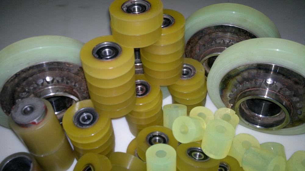 Изделия из полиуретана. наварка колес, восстановление колес