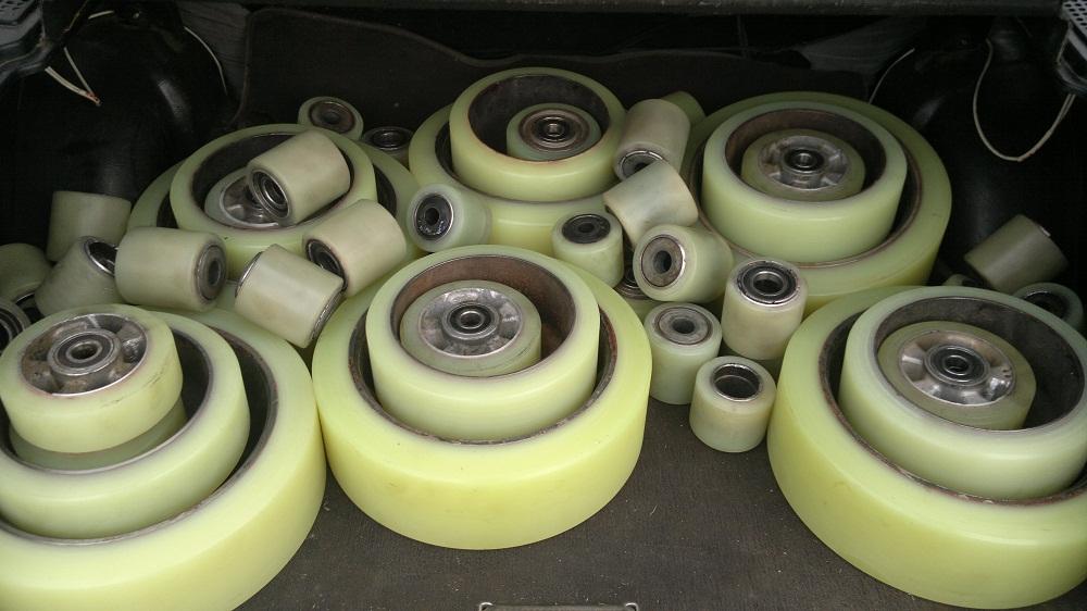 ремонт, восстановление колес и роликов полиуретаном